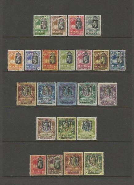 Gambie, KGV, katalog Michel č. 93-111, 112-115
